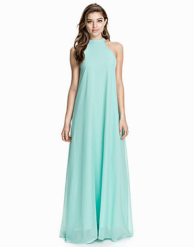 High Neck Chiffon Maxi Dress (1928428363)