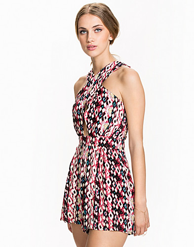 Cross Over Printed Playsuit (1973023801)