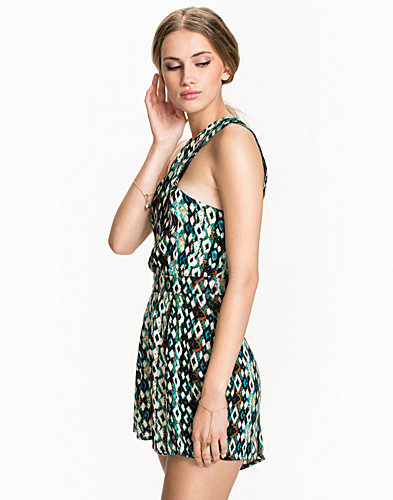 Cross Over Printed Playsuit Club L Jumpsuits