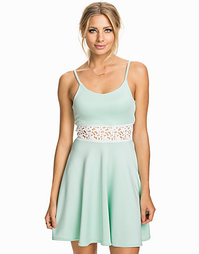 Crochet Detailed Cami Skater Dress (2008710797)