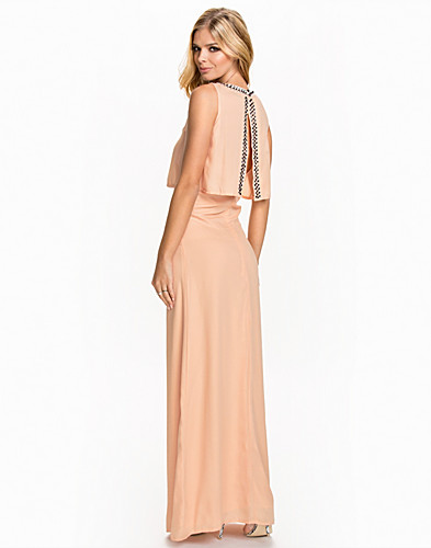 Diamonte Overlay Open Back Maxi Dress (2018772081)
