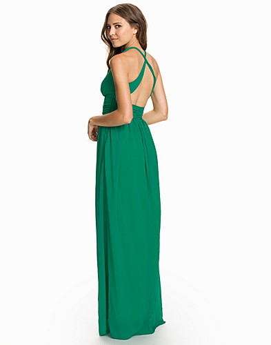 Criss Cross Chiffon Maxi Dress