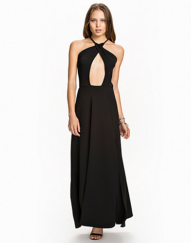 Cross Over Neck Maxi Dress