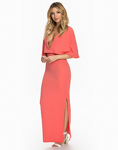 Cape Detailed Maxi Dress