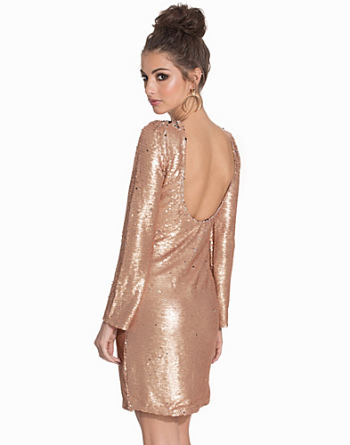 Low Back Bodycon Sequin Dress (2089918917)