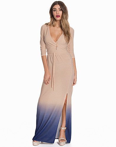 Wrap Front Lurex Maxi Dress (2091776893)