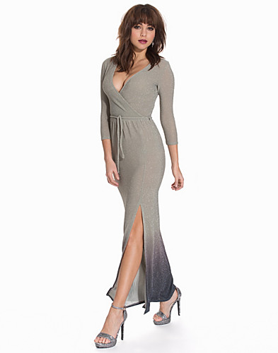 Wrap Front Lurex Maxi Dress (2092444831)
