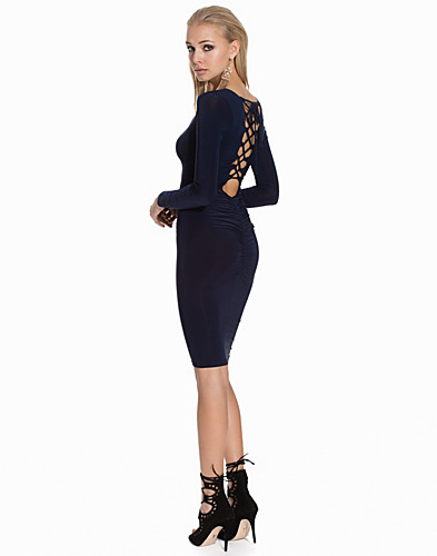 Slinky Midi Bodycon Criiss Cross Detail (2113603627)