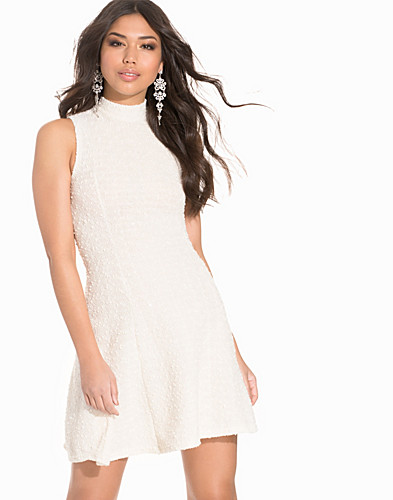 High Neck Metallic Boucle Skater Dress (2189838213)