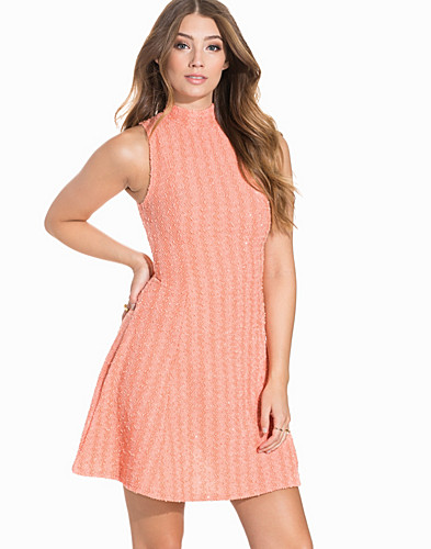 High Neck Metallic Boucle Skater Dress (2200185619)