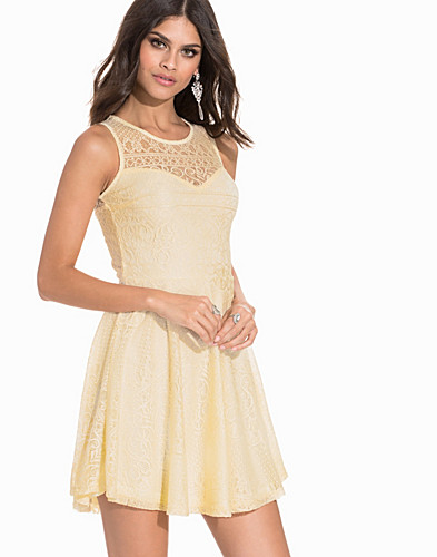 Sweetheart Paisley Lace Skater Dress (2200185629)