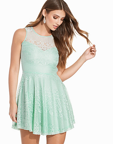 Sweetheart Paisley Lace Skater Dress (2206774555)