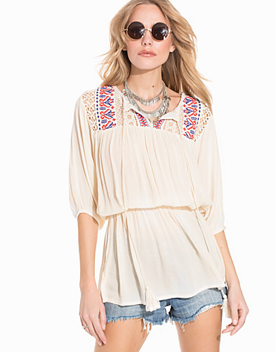 Detailed Waist Embroided Tunic (2196407757)
