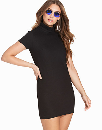 High Roll Neck Shift Dress (2231702045)