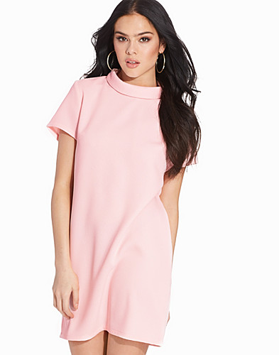 High Roll Neck Shift Dress (2238371165)