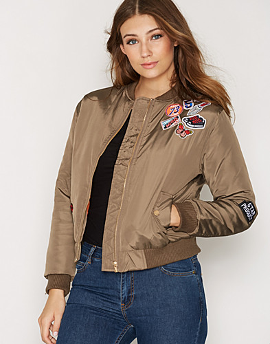 Badged Bomber Jacket (2266337671)