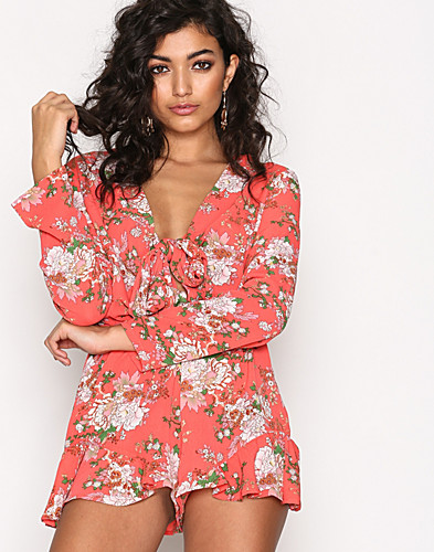 Glamorous - Frill Knot Playsuit