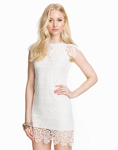 Rounded Neck Lace Bodycon Dress (1961038519)