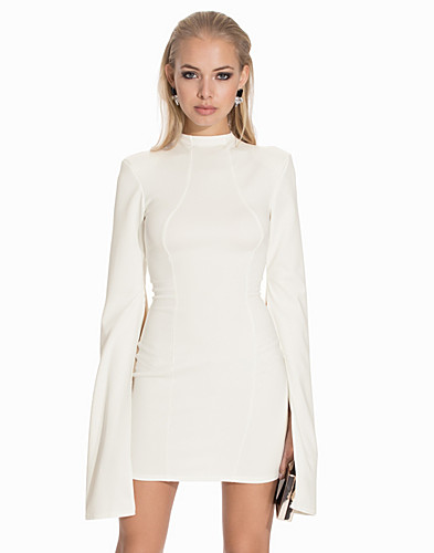 Bell Sleeve High Neck Open Back Dress (2134098573)