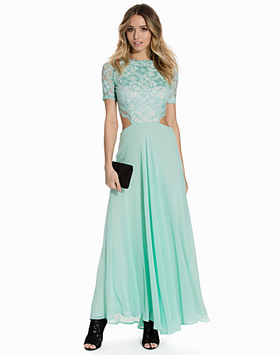 Lace Detailed Open Back Maxi Dress (2140335097)