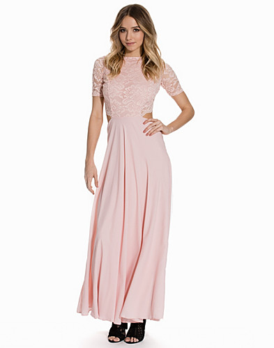 Lace Detailed Open Back Maxi Dress (2140917861)