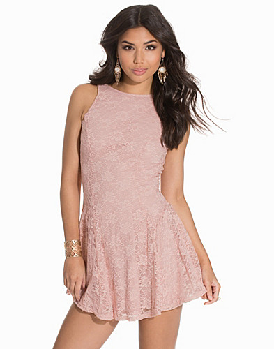 Round Back Waist Detaileded Skater Dress (2139671757)