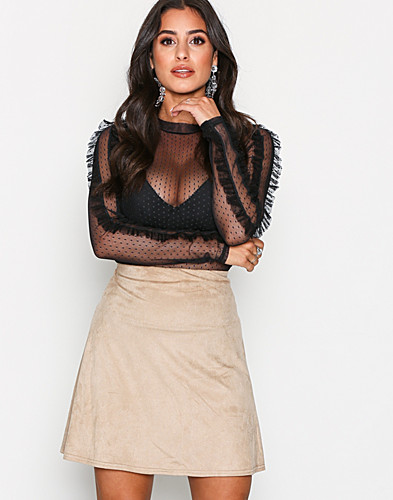 A Lined Suede Like Skirt (2157032767)
