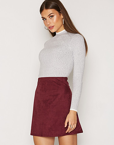 A Lined Suede Like Skirt (2305405413)