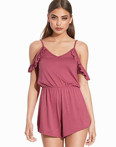 Frill Shoulder Playsuit (2204489493)