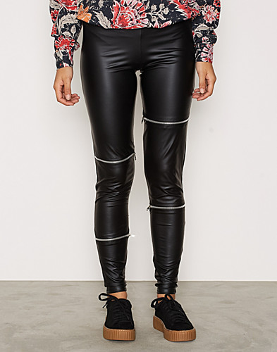PU Zip Leggings