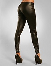 Silver Studded Leggings SEK 199, Purple - NELLY.COM
