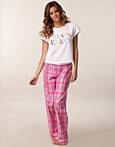 Hele sett , T-Shirt Woven Pant Pj Set , Calvin Klein - NELLY.COM