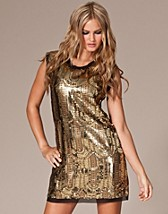 Zanneli Gold Sequin Dress EUR 71,95, Sequin Mania - NELLY.COM