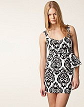 Party dresses , Print Peplum Dress , Reverse - NELLY.COM