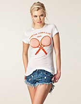 Toppar , Tennis Club'66 Skinny Tee , Wildfox - NELLY.COM