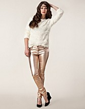 Housut & shortsit  , Peppy Metallic Gold , SuperTrash - NELLY.COM