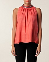 Tops , Draped Chiffon Top , Moschino Cheap & Chic - NELLY.COM