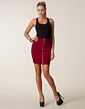 Nederdele , Pernilla Zip Skirt , Jeane Blush - NELLY.COM