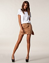 Kjolar , Two Zip Skirt , Jeane Blush - NELLY.COM
