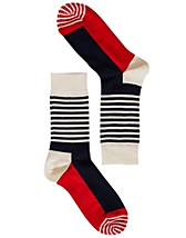 Strumpor , Stripe Half Socks , Happy Socks - NELLY.COM