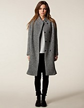 Jackor , Donna Long Coat , Velour - NELLY.COM