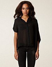 Blusar & skjortor , Stina Blouse , Velour - NELLY.COM