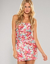 Floral Satin Rouche Dress SEK 499, Rare Fashion - NELLY.COM