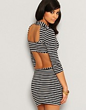 Stripe Cut Out Dress SEK 369, Rare Fashion - NELLY.COM