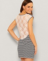 Stripe Lace Back Dress SEK 109, Rare Fashion - NELLY.COM