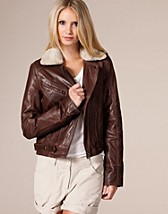 Aviato Leather Jacket SEK 1595, Vila - NELLY.COM