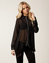 Blouses & shirts , Daya Shiny Placket Blouse , Rut&Circle - NELLY.COM