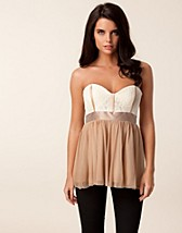 Toppar , Mesh Lace Bustier Top , Elise Ryan - NELLY.COM