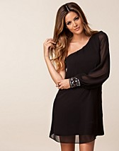 Festklänningar , One Shoulder Black Dress , Elise Ryan - NELLY.COM