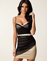 Juhlamekot , Mesh Satin Bodycon Dress , Elise Ryan - NELLY.COM